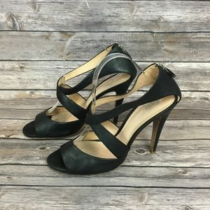 Theory Black Leather Sandals